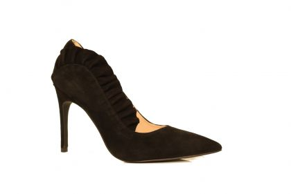 LIUJO LOLA 4 DECOLLETE KID SUEDE BLK